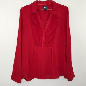 Anthropologie Maeve popover blouse red size 12